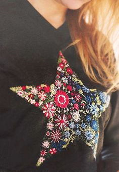 Цветочная звезда (DIY) / Вышивка / ВТОРАЯ УЛИЦА