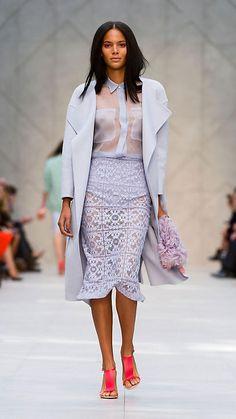 Camisa de organza de seda | Burberry