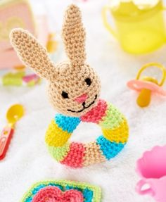 Bunny Rattle - free crochet pattern download from Let's Knit!