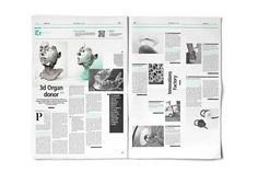 Editorial Design Inspiration: Daily News by Polish designer Lukasz Pachalko