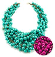 Decked Out Necklace $28. So cute. I love the fuchsia one. Shop now at http://smesselian.mymarkstore.com