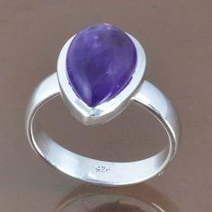 DESIGNER 925 STERLING SILVER AMETHYST LATEST FANCY RING 4.35g DJR9123 SZ-7 #Handmade #Ring