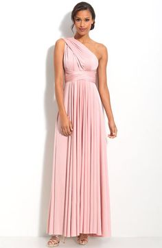 what about this convertible one? everyone can choose a different stlye?    twobirds Convertible Jersey Gown | Nordstrom