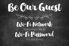 Sweet Blessings: Be our Guest FREE Customizable Printable