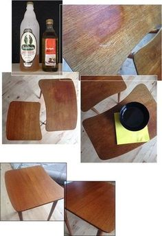 Make-over: Teak-renewal for a Diy Hacks, Cleaning Hacks, Interior Paint Colors For Living Room, Diy Interior, Natural Cleaning Products, Cool Diy, Form Design, Woodworking Projects, Teds Woodworking