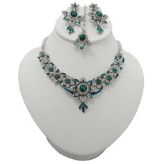 Indian Jewelry Sets, Bollywood Jewelry, Wedding Costumes, Teal Blue, Necklace Set, Costume Jewelry, Women Wear, Gems, Amazon