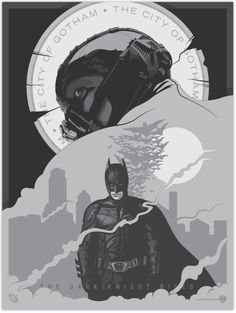The Dark Knight Rises poster art by David Moscati. I'd put it on my wall.