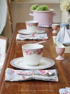 desayuno de otoño con la colección Simone Blue de GreenGate en Laura Ashley Asturias