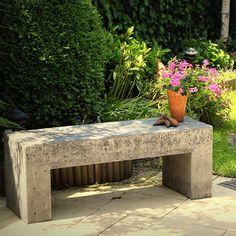 make concrete garden bench