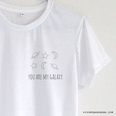 You Are My Galaxy Pocket T-shirt ; Cute Pocket Tee Tumblr Inspired KISSMEBANGBANG.COM