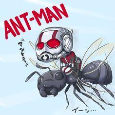 Dessin fanart Ant-Man par Neeegi comics marvel disney super-héros...