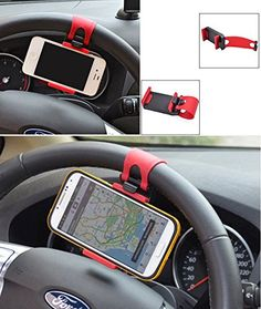 Theera  Steering Wheel Cradle Holder Smart Clip CarBike Mount for Mobile Cell Phone GPS YRS 0072 >>> Details can be found by clicking on the image.Note:It is affiliate link to Amazon.