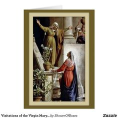 Virgin Mary Visits Cousin Elizabeth by artist C. Religious Pictures, Jesus Pictures, Catholic Art, Religious Art, Rosary Catholic, Catholic Saints, Greg Olsen, Poster Print, Mama Mary