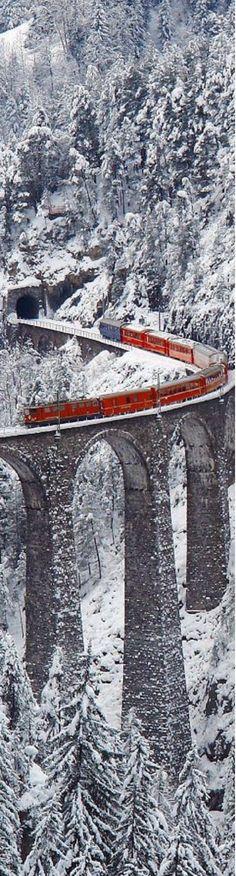Landwasser Viaduct, Graubünden, Switzerland.