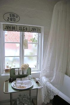 Old Licence Plates As A Window Valance....