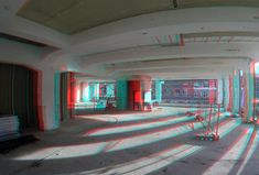 https://flic.kr/p/FMryZU | renovation Slaakhuys Rotterdam 3D GoPro | anaglyph stereo red/cyan