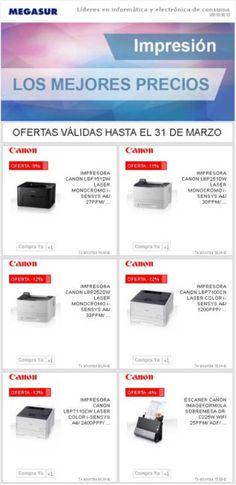 Los mejores precios en impresión con Canon