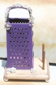 Redneck Cowgirl Jewelry Stand Cheese Grader With Rhinestones $37.00