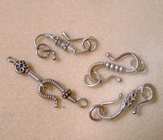 Make Your Own Clasps! pretty clasp adorned with beads and wrapped with fine wire