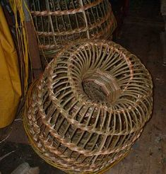 Willow lobster pot, Nigel Legge