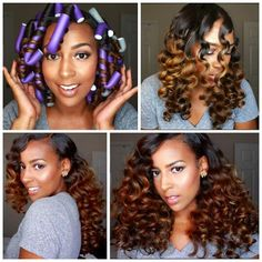 Flexi Rods on Natural Hair