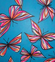 Vintage 1960's Butterfly Gift Wrap