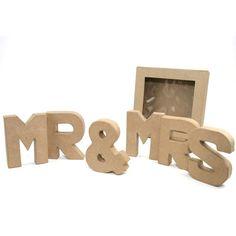 Mache Kit Letters Mr & Mrs 19 Cm | Hobbycraft