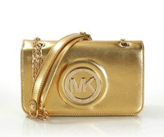 6668f2b181a Michael Kors Fulton Leather Small Golden Crossbody Bags Michael Kors 2015, Michael  Kors Satchel,