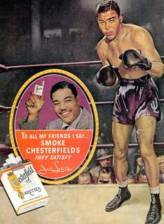 Chesterfield Cigarettes Joe Louis 1937 - Mad Men Art: The Vintage Advertisement Art Collection
