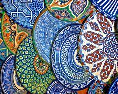 The Plate Market, Marrakech, Morocco.