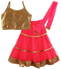 lil'posh Sleeveless Ghaghra Choli Set With Dupatta