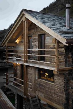 Реконструкция старого амбара в Швейцарии