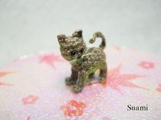 Micro Miniature gris chat chaton Mini minuscule Crochet par SuAmi