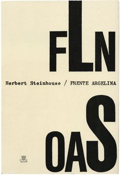 Frente Argelina, Herbert Steinhouse, Editora Ulisseia, design Sebastião Rodrigues, 1962