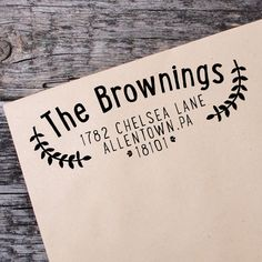Return Address Self Inking Stamp, Wedding Return Address Self Inking Stamp, Custom Address Stamp - 019 by IntricutCreations on Etsy