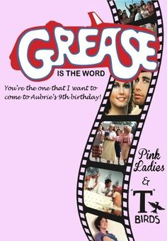 """NEW BLOG: """"Aub's 9th """"GREASE"""" birthday party!"""" www.4lilmonsters.com with lots of pictures!"""