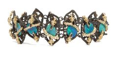 MN opal Boulder link bracelet with diamonds and blue sapphires by Armenta at Talisman Gallery (£6,345).