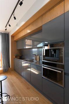 """Apartament """"Wilga Park"""", Kraków - Mała otwarta kuchnia jednorzędowa w aneksie, styl nowoczesny - zdjęcie od ORANGESTUDIO"""