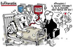 Euthanasie de l'hôpital. Plantu. #hospital