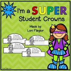 These superhero crowns are perfect for back to school or to celebrate special events.
