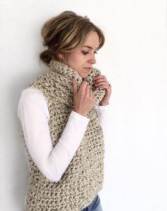 Excited to share the latest addition to my shop: Vest Knit Vest Pattern, Sweater Knitting Patterns, Hand Knitting, Crochet Box Stitch, Crochet Yarn, Crotchet, Crochet Basics, Crochet Clothes, Diy Fashion