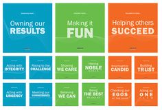 corporate values display Corporate Values, Corporate Offices, Company Core Values, Office Wall Graphics, P Value, Innovation Strategy, Web Design, Office Wall Decor, School Decorations