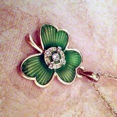 Shamrock Irish Blessing Necklace. I hope I can find one of these when I am in Ireland in June.