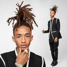 Jaden Smith wearing Louis Vuitton by for the Met Gala in New York City. Photo by Will Smith, Jadan Smith, Afro Punk, Coming Out, Os Smiths, Jaden Smith Fashion, Dreadlock Hairstyles For Men, Hollywood Stars, Haircuts For Men