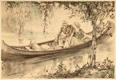 Raleigh - Couple in a Canoe