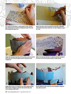 """jason Bige Burnett. """"Slippery When Wet"""" article from Pottery Making Illustrated"""