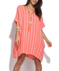 Take a look at this Coral Suzy Linen Tunic today!