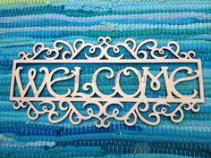 laser cut wooden welcome sign - Daisymoon Designs