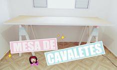 Minha mesa de CAVALETES ♥