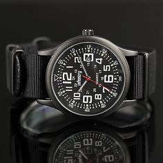 Infantry Mens Boys Date Quartz Wrist Watch Sport Military Army G10 Black Nylon | eBay